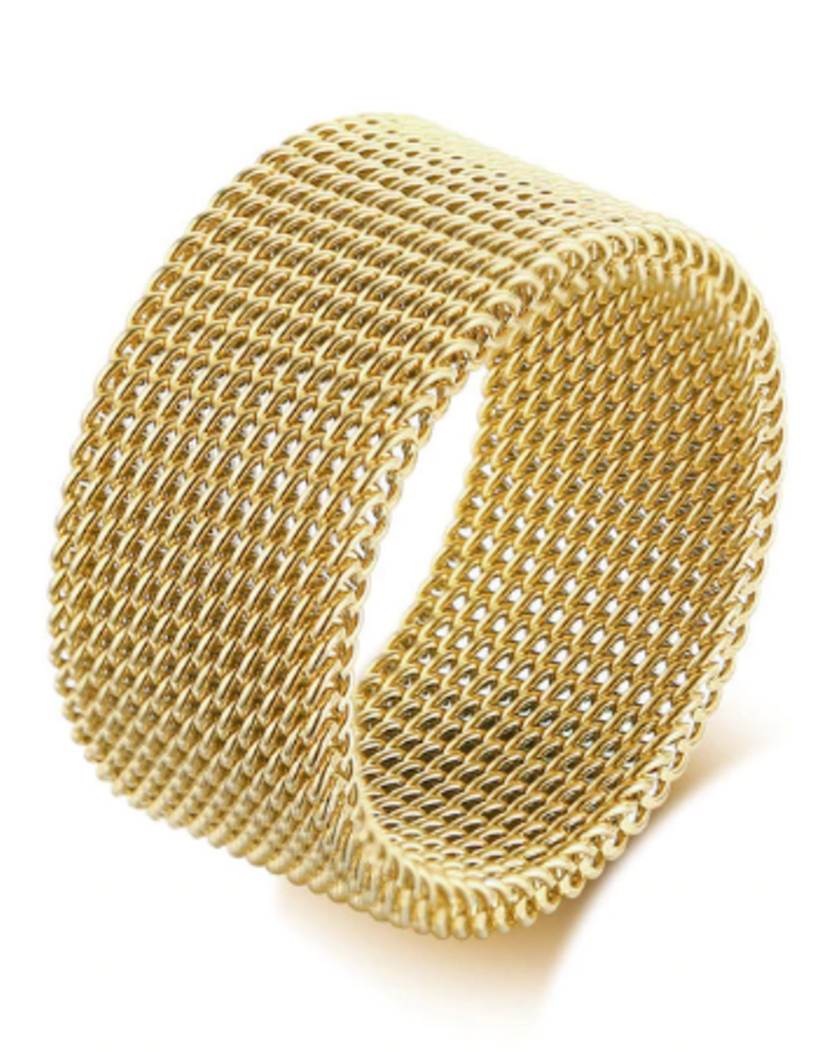 Wyld Blue Mesh Ring (Thick)