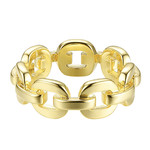 Wyld Blue Gold Chain Ring