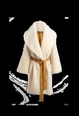 Arjé Anais Reversible Shearling Jacket Honey