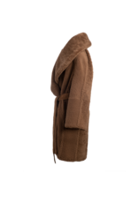 Arjé Anais Reversible Shearling Jacket Mocha