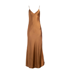 Dannijo Bronze Long Slip Dress