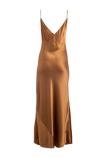 Dannijo Bronze Long Slip Dress
