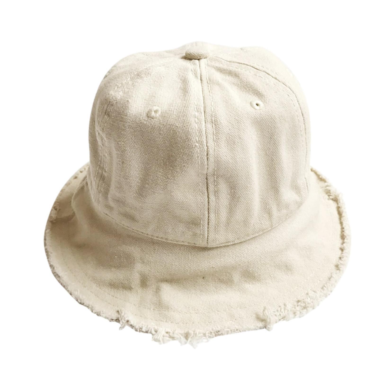 Wyld Blue Kids Kids Linen Bucket Hat