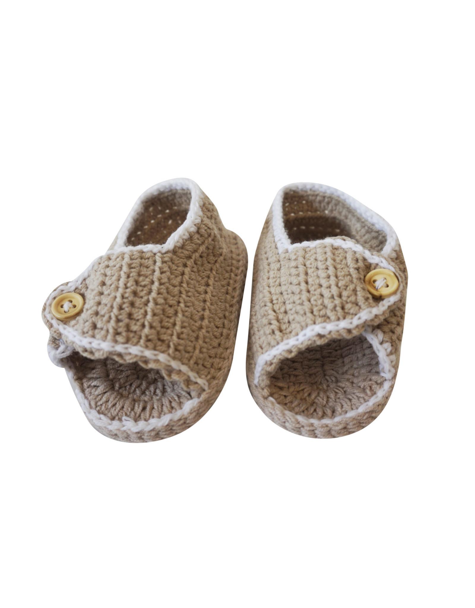 Wyld Blue Kids Baby Knit Shoes Sand