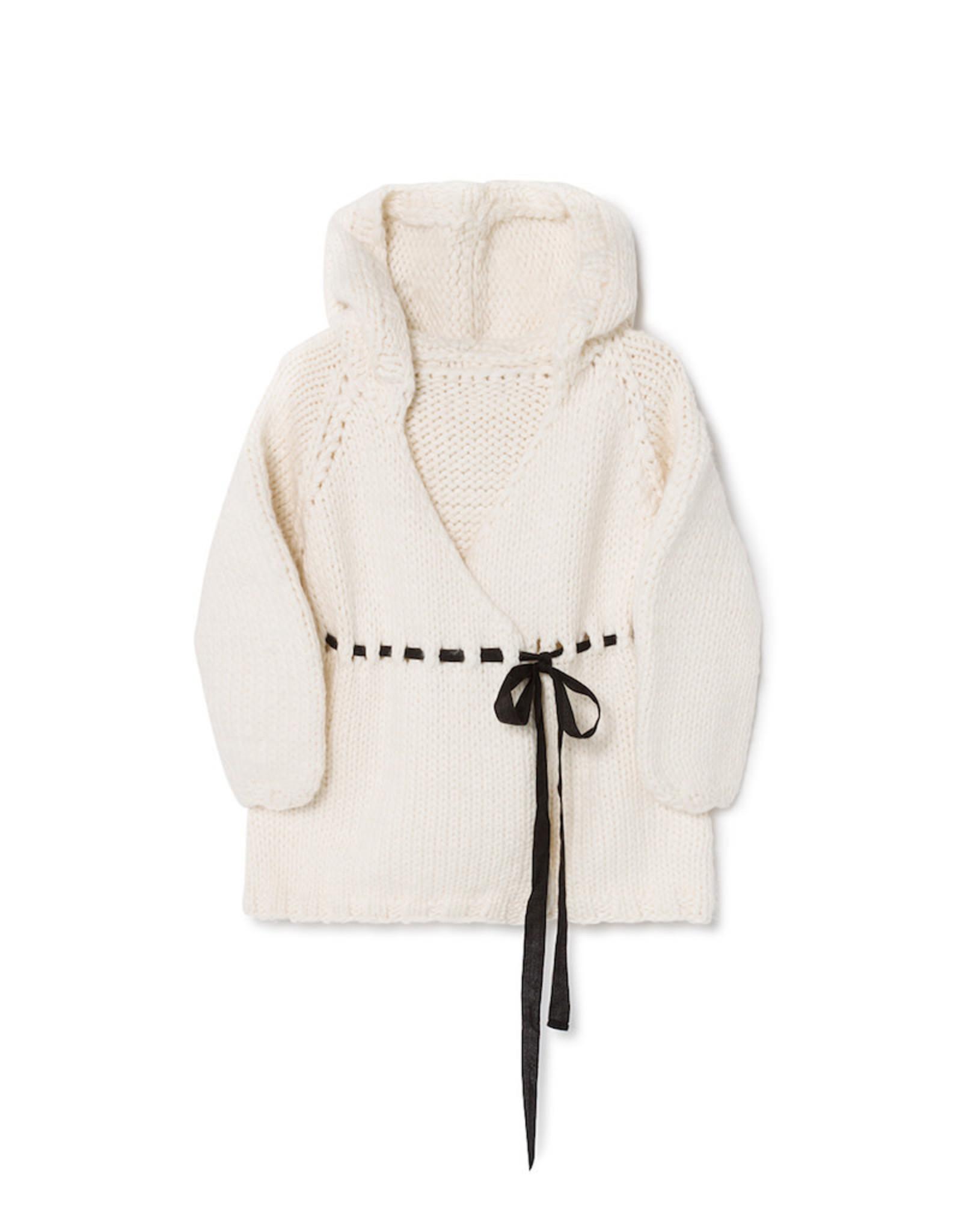 Little Creative Factory Chunky Knit Jacket Cream