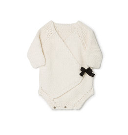 Little Creative Factory Baby Chunky Knit Overall Cream