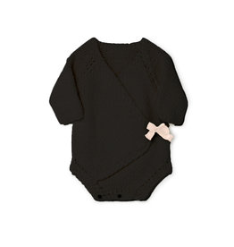Little Creative Factory Baby Chunky Knit Overall Slate