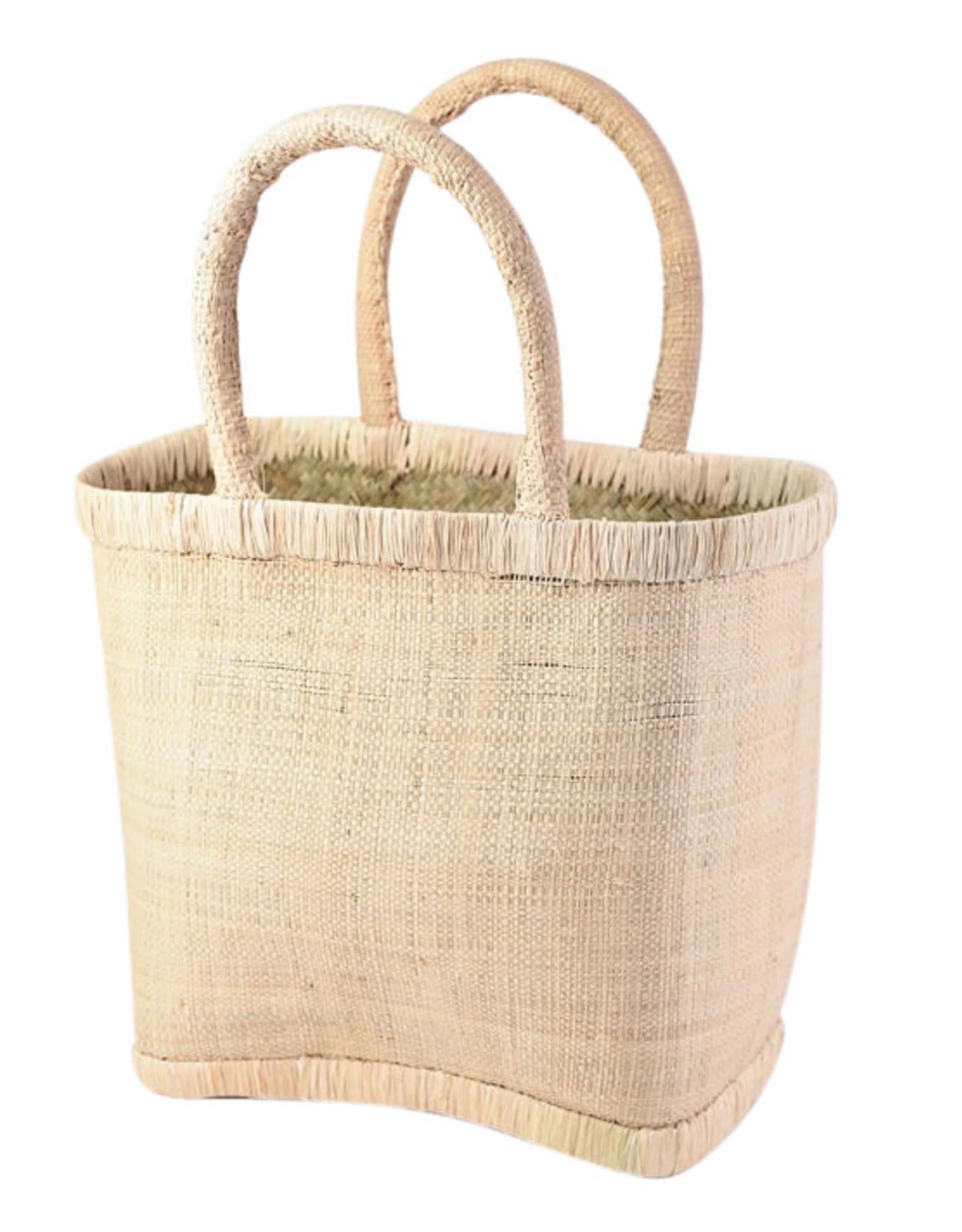 Wyld Blue Natural Raffia Bag