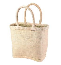 Wyld Blue Natural Raffia Bag