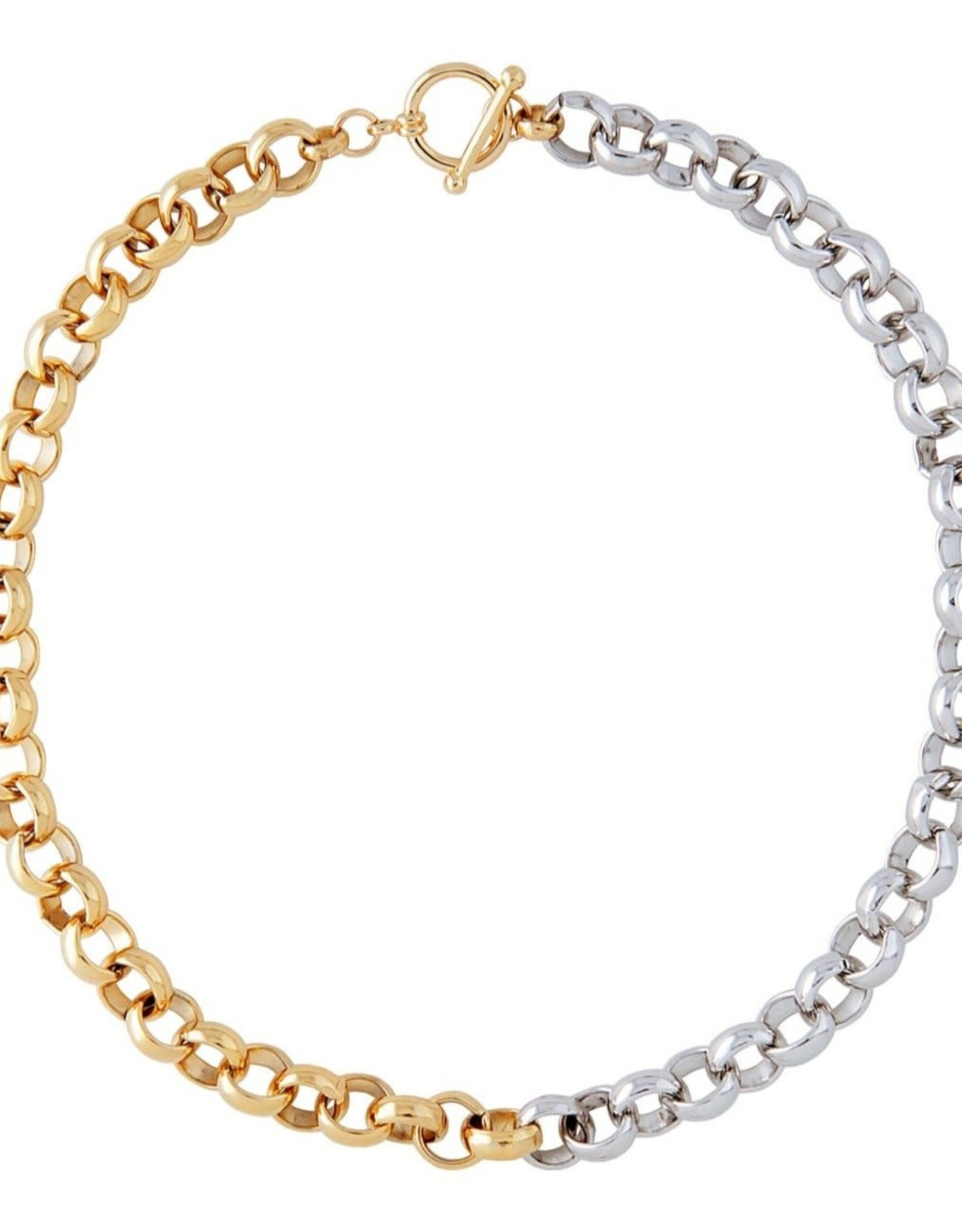 Martha Calvo Two Tone Rolling In Necklace