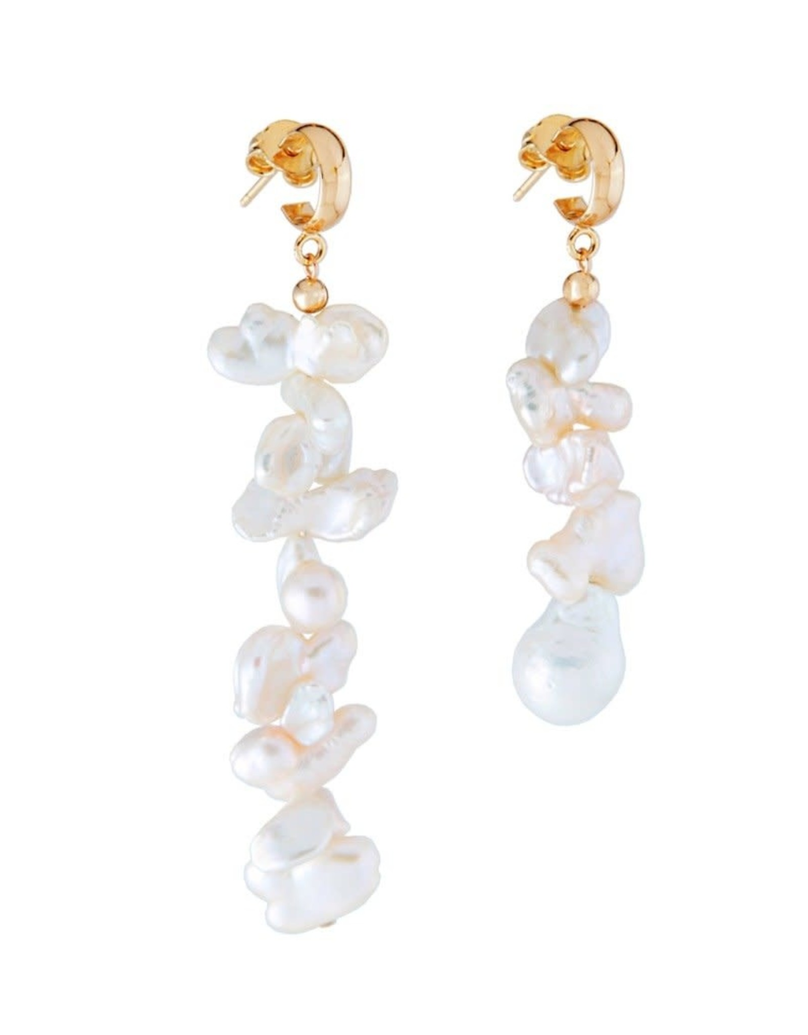 Martha Calvo Mismatched Keshi Pearl Earrings