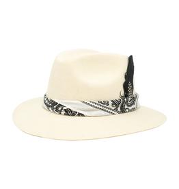 Tuluminati Nizuc Hat White Suede with White Bandana