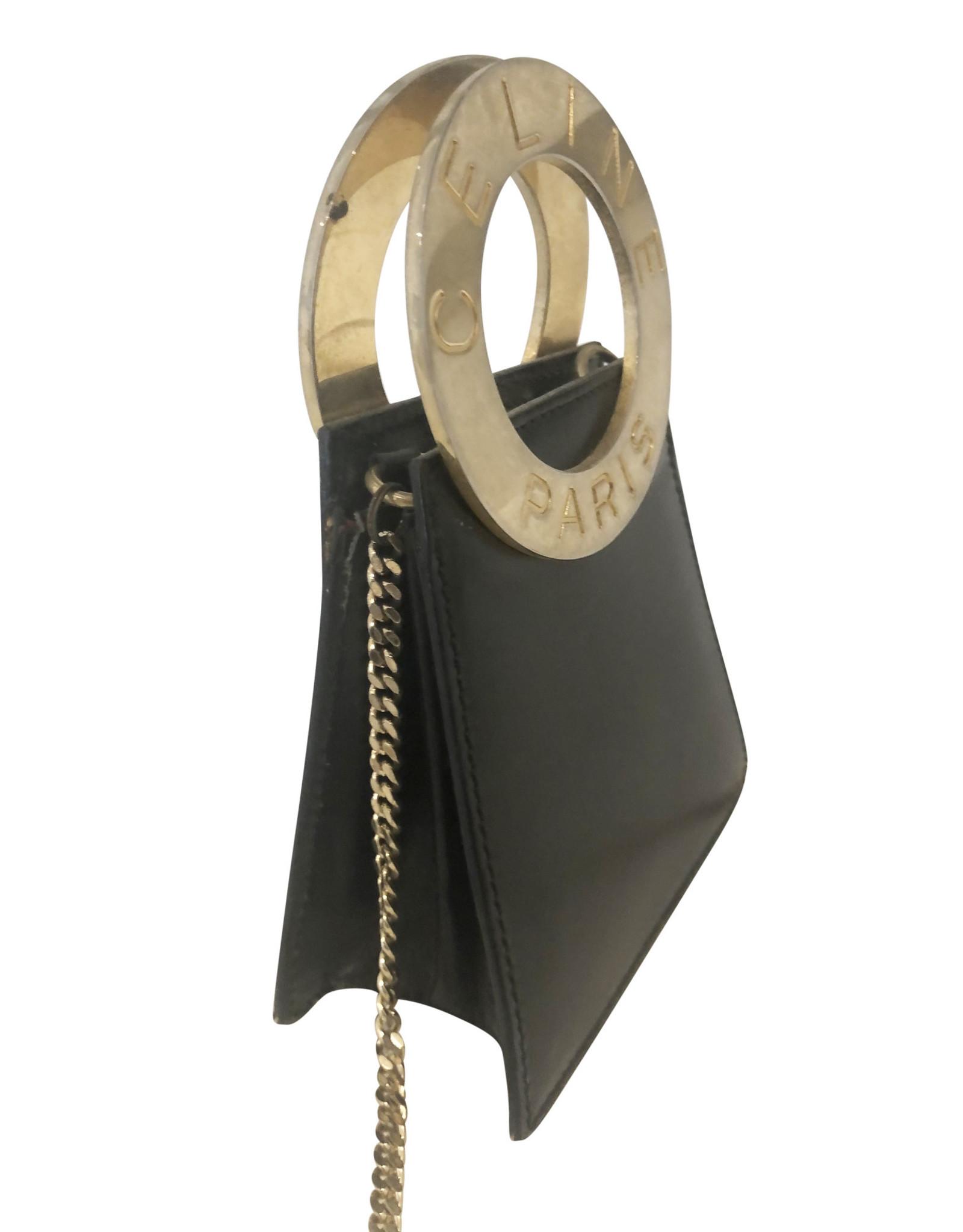 Celine Celine Black & Gold Mini Bag (Vintage)
