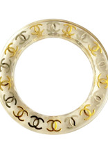 Chanel Chanel Lucite CC Bangle (1997 Vintage)