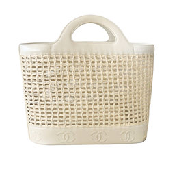 Chanel Chanel Woven Wicker Beach Tote (1996 Vintage)