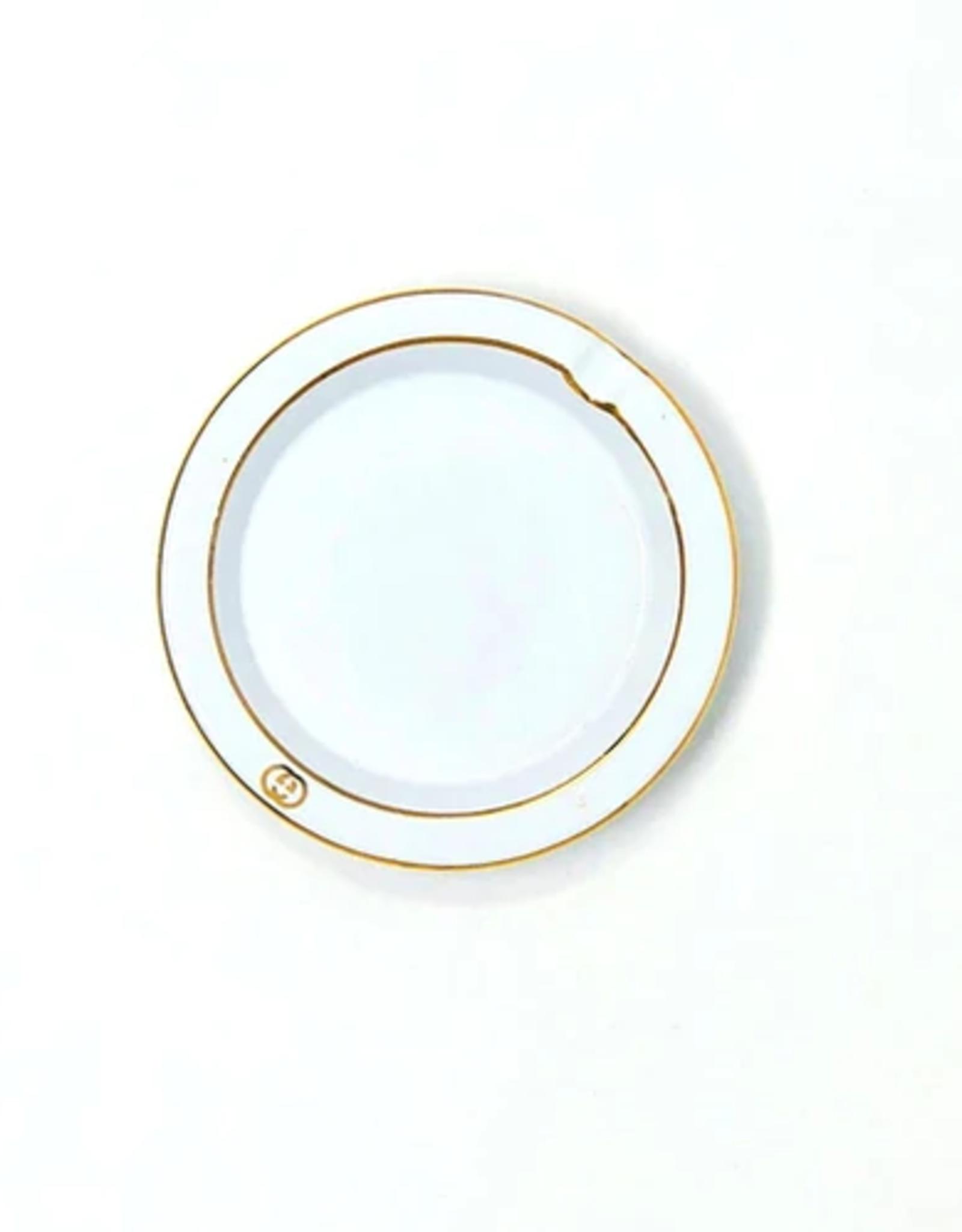 Wyld Blue Vintage White Gold Logo Ashtray