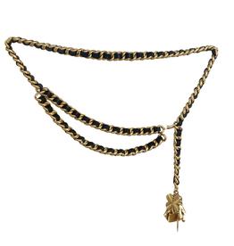 Chanel Chanel Black Luckycharm Chain Belt (1995 Vintage)