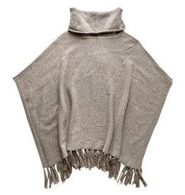 Wyld Blue Poncho Fringe Sweater