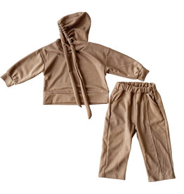 Wyld Blue Kids Brown Trackie Set