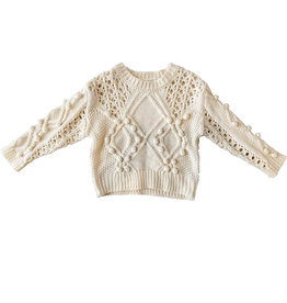 Wyld Blue Kids Chunky Cable Knit Sweater