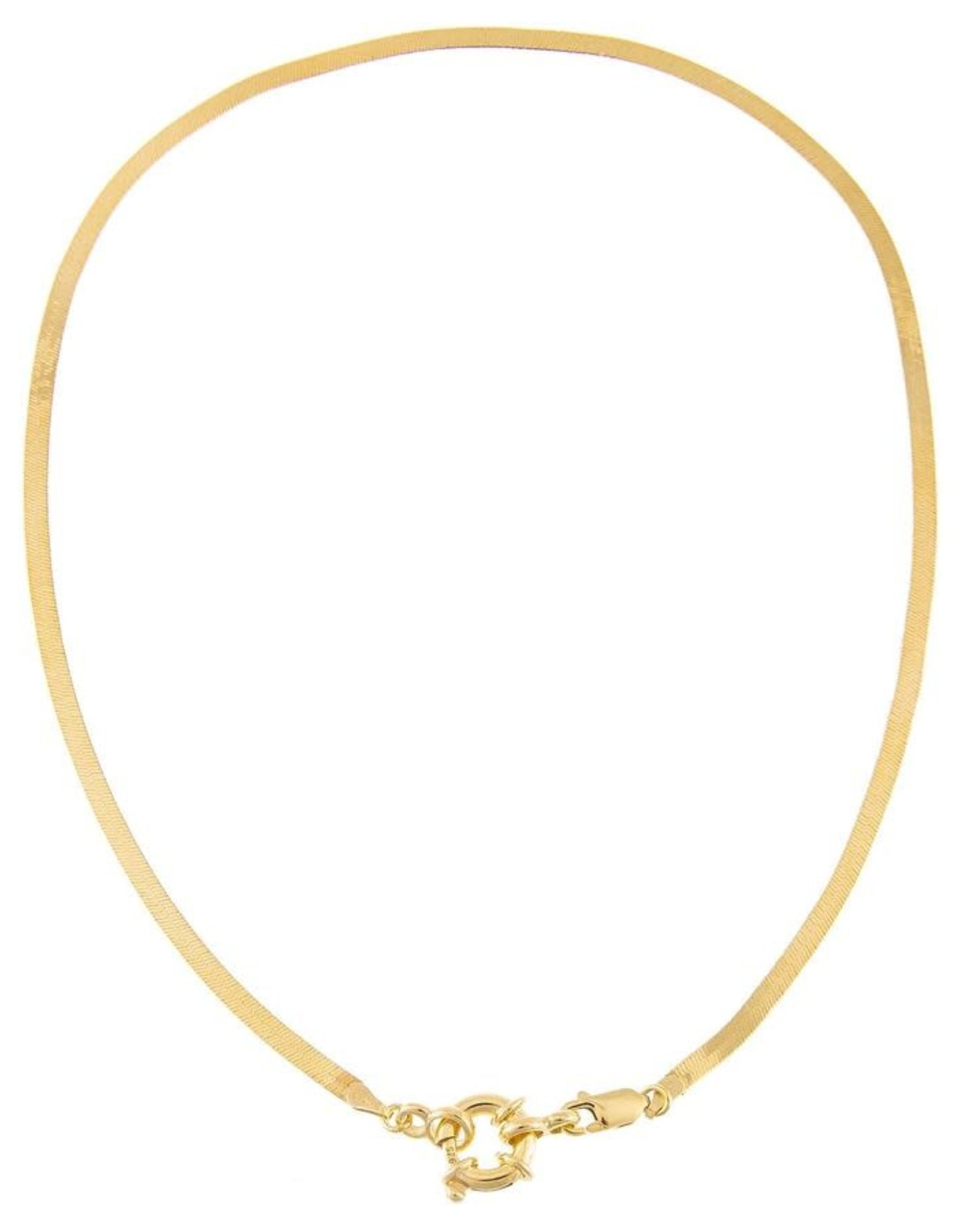 Adinas Toggle Herringbone Necklace