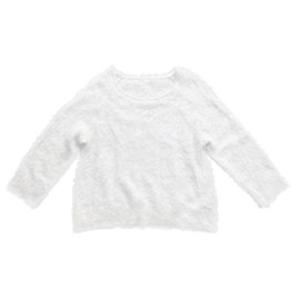 Wyld Blue White Furry Sweater