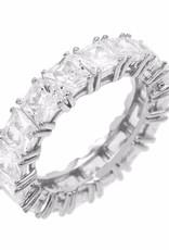 Adinas Princess Cut Eternity Band Silver