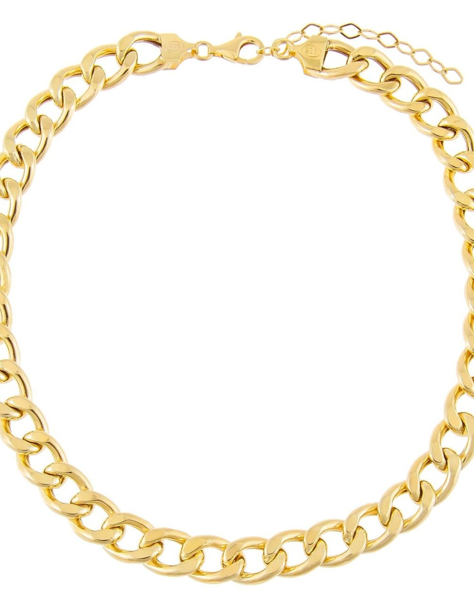 Adinas Hollow Chunky Curb Chain Choker