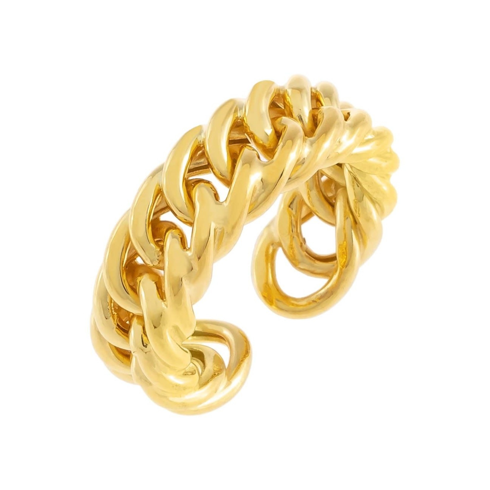 Adinas Chunky Double Curb Chain Ring (one size)