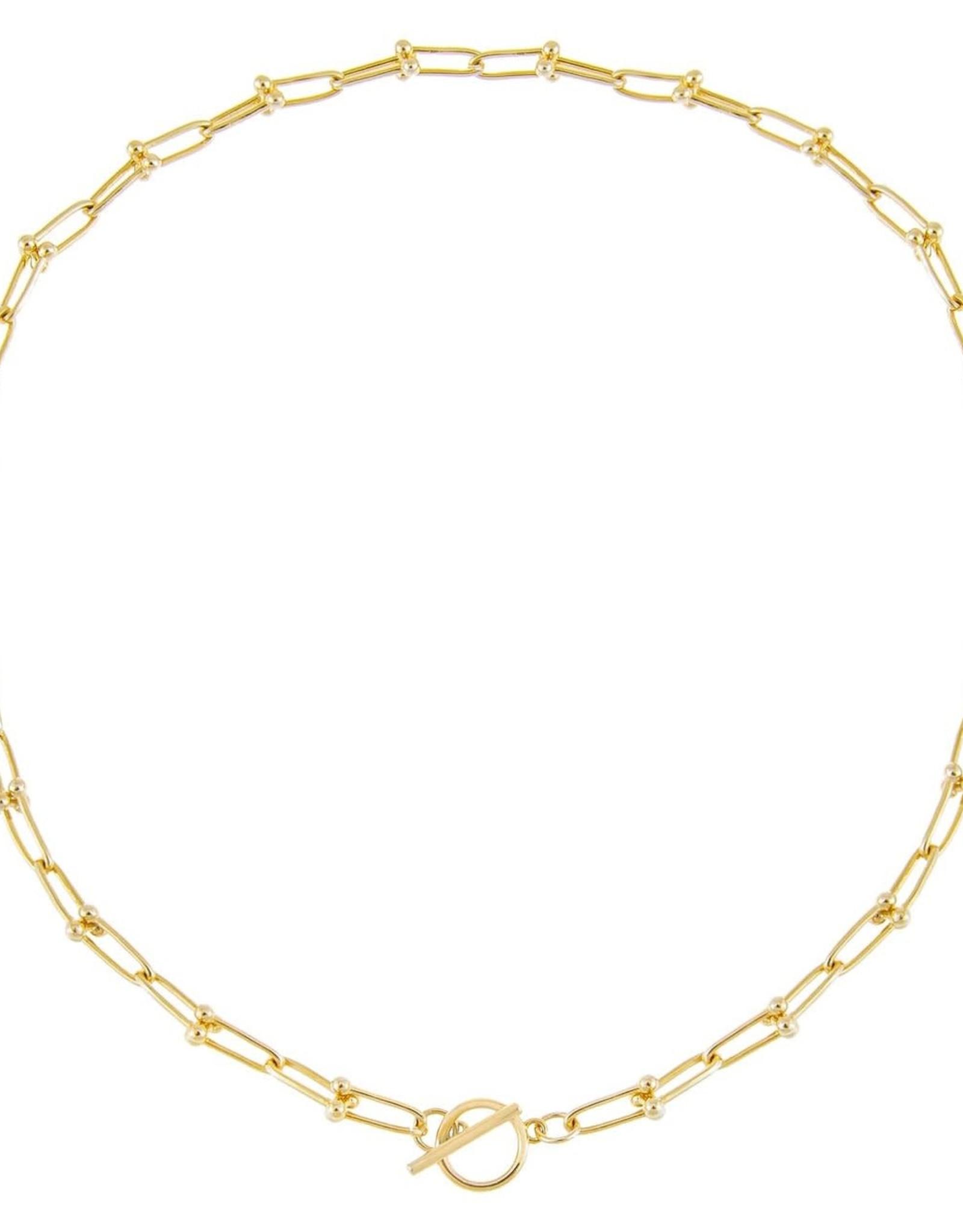 Adinas U Chain Toggle Necklace