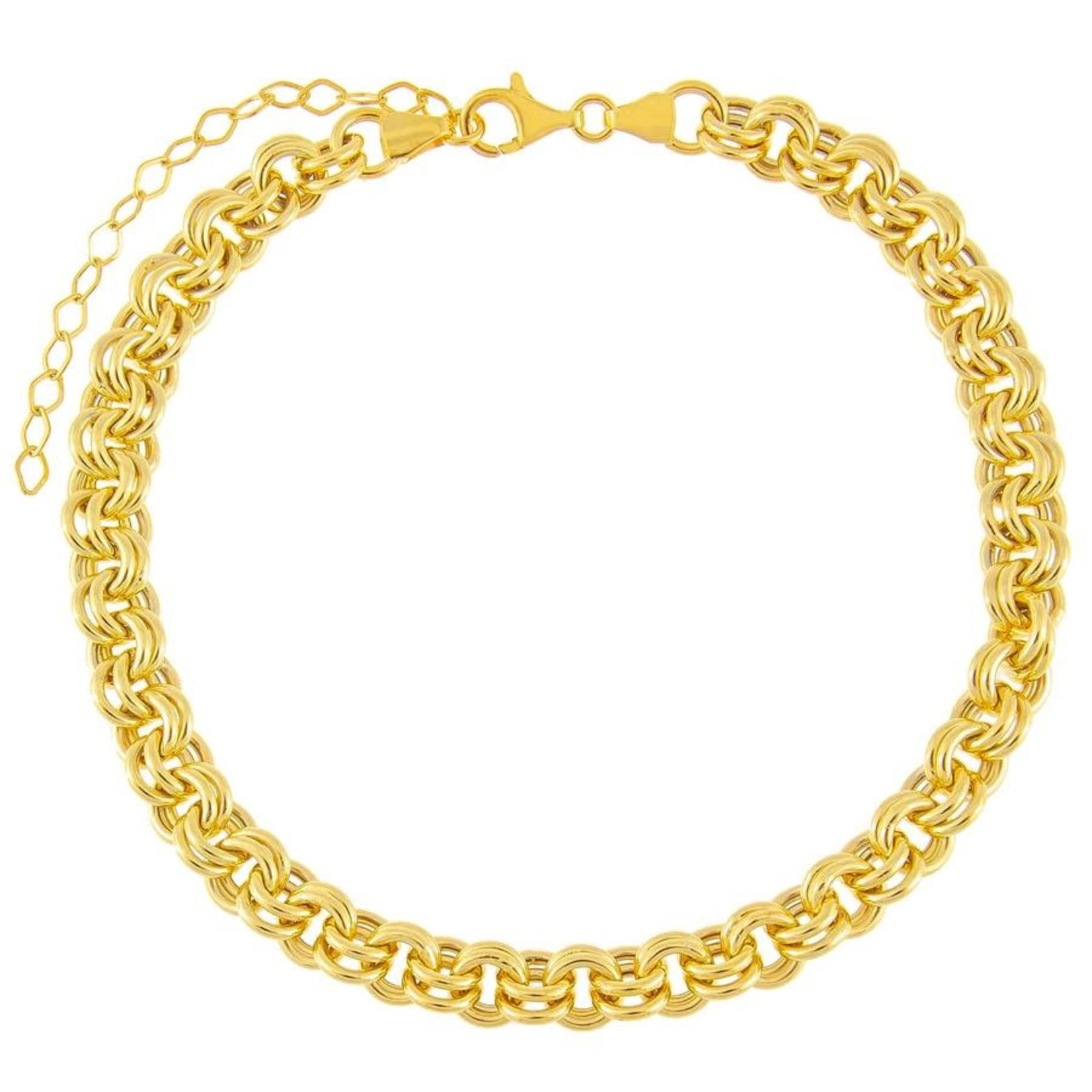 Adinas Hollow Rounded Rolo Chain Choker