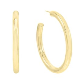 Adinas Large Hollow Hoop Earring