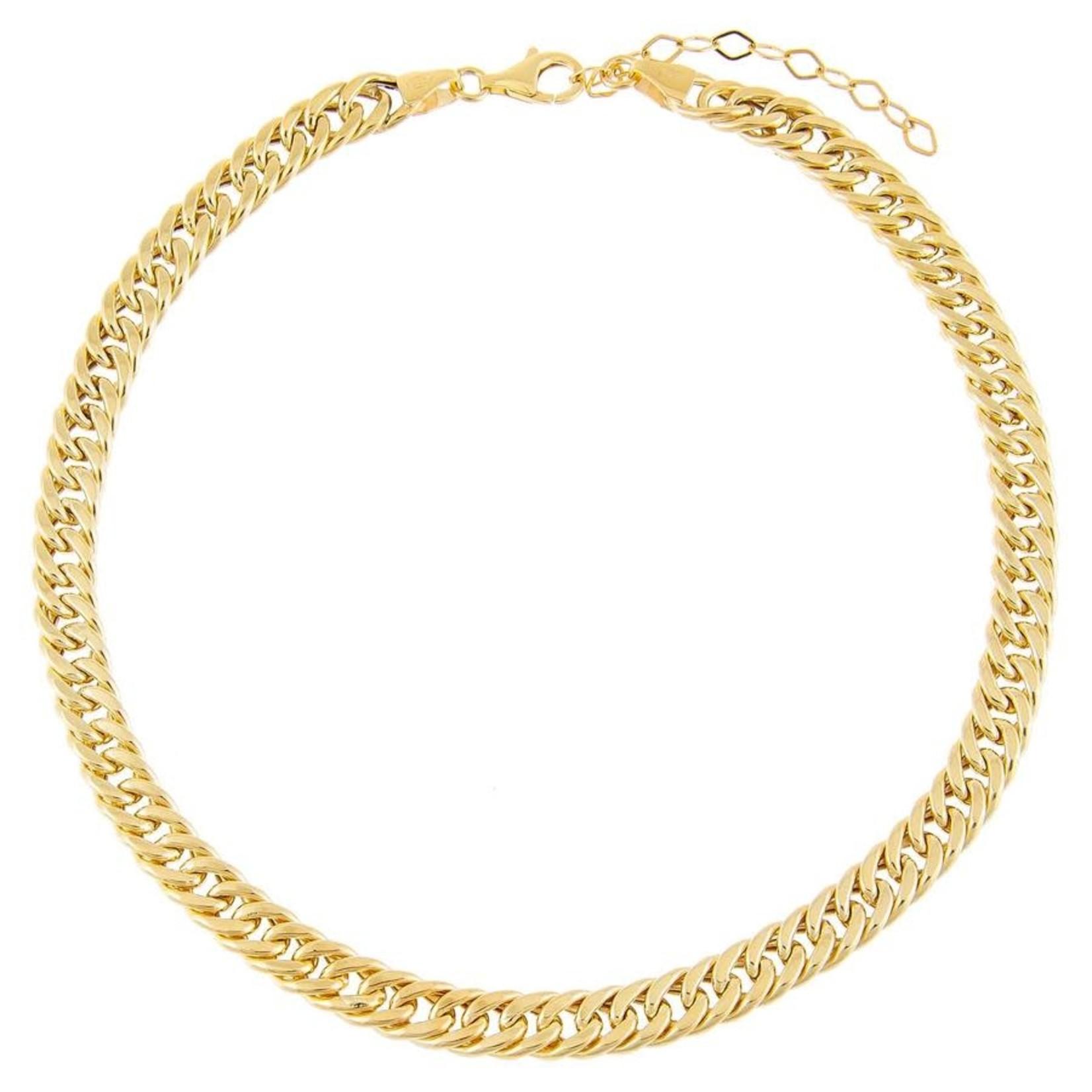 Adinas Hollow Double Curb Chain Choker
