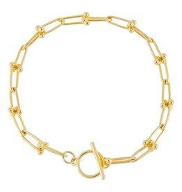 Adinas U Chain Toggle Bracelet