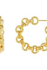 Adinas Chunky Rolo Chain Hoop Earring