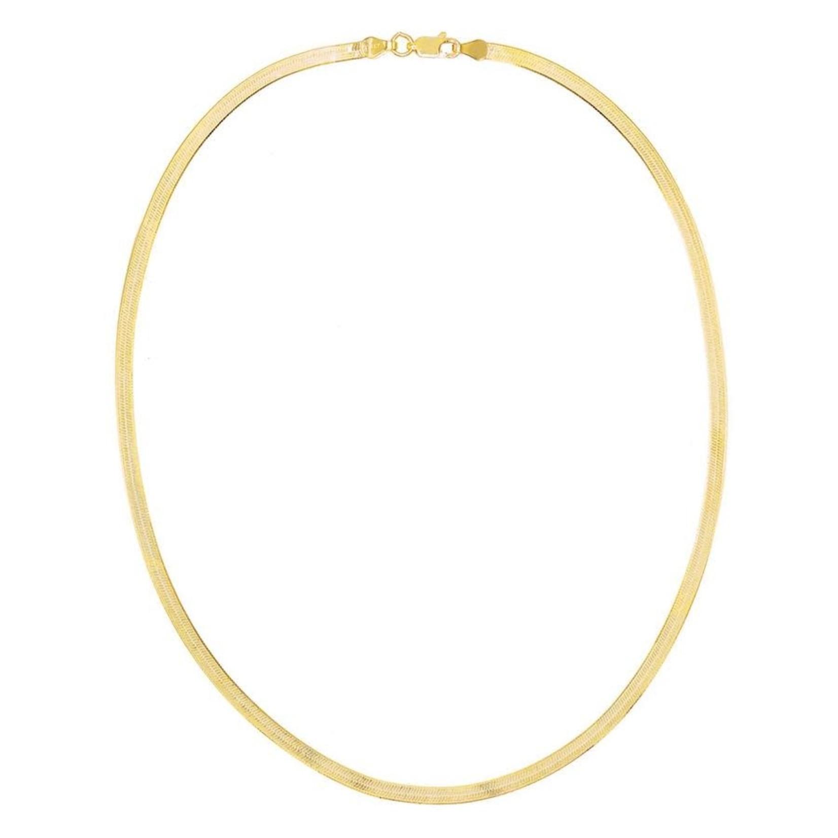 Adinas Gold Herringbone Necklace