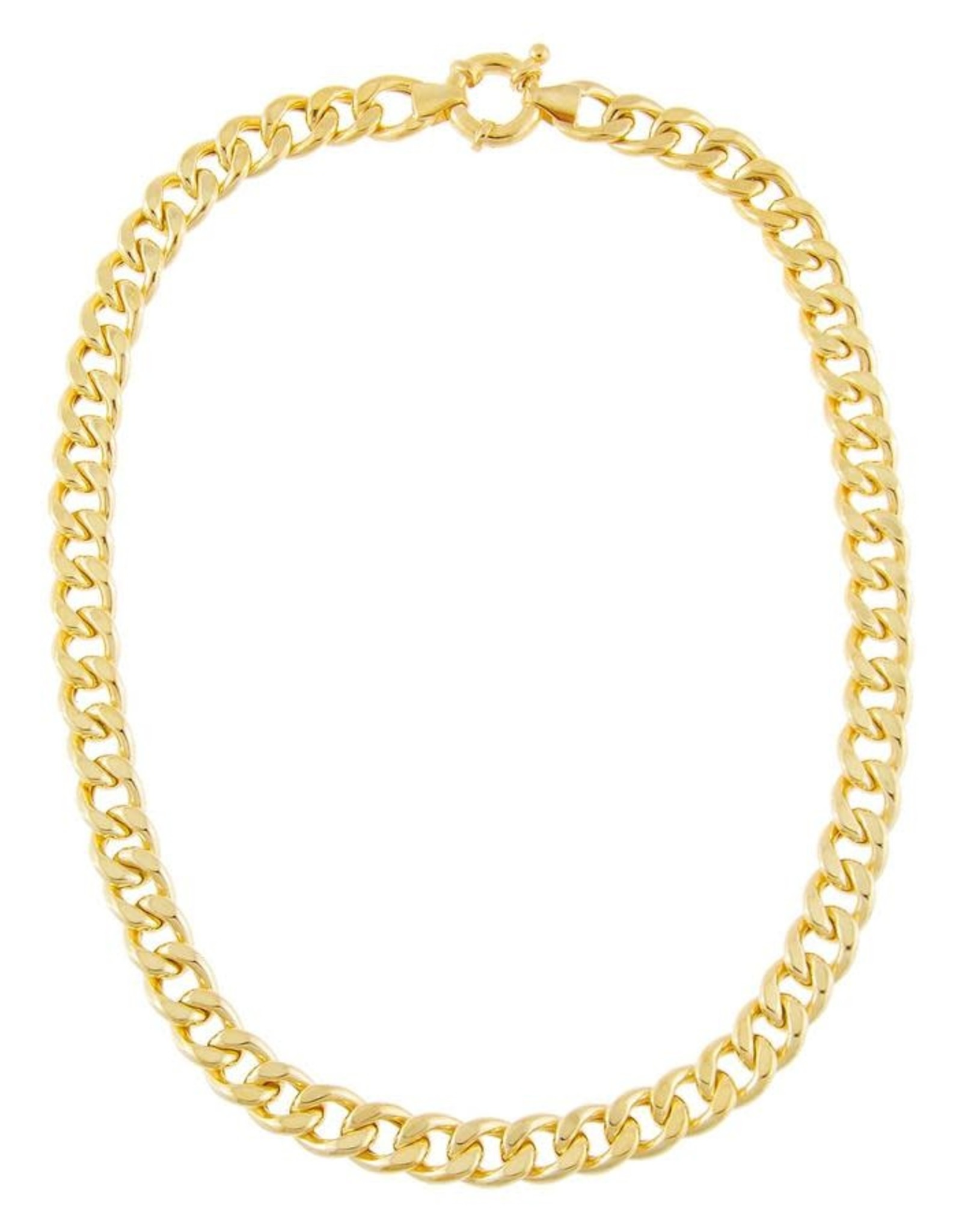 Adinas Medium Miami Curb Link Necklace