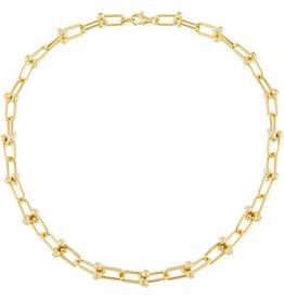 Adinas CZ U Chain Link Necklace