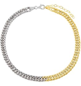 Adinas Two Tone Double Curb Links Choker