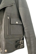 Givenchy Givenchy Leather Moto with Fur Collar