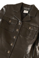 Chanel Chanel Leather Shirt (Vintage)