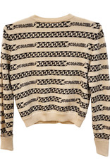 Chanel Chanel Monogram Cashmere Sweater sz 40 (1990s Vintage)