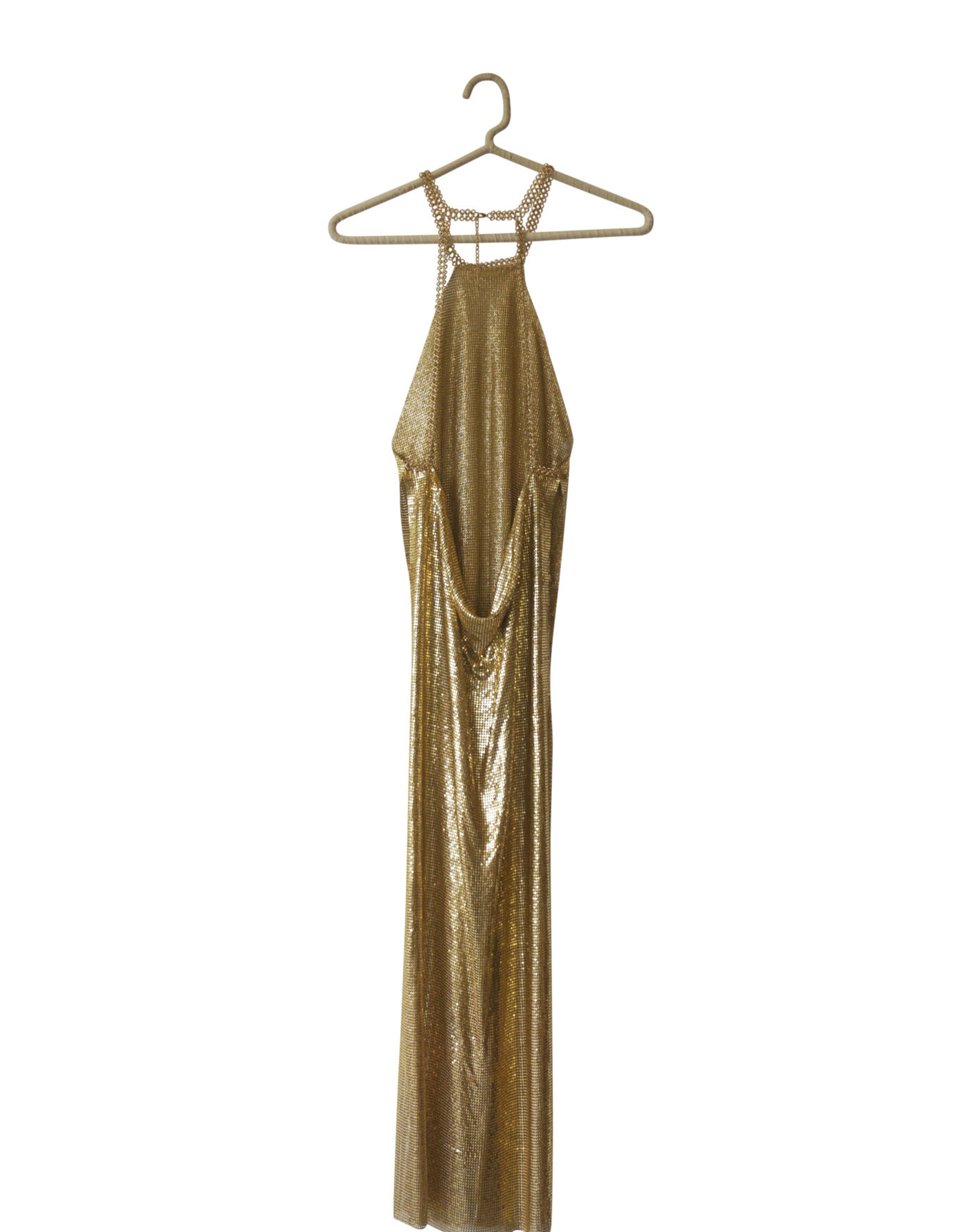 Wyld Blue Metal Maxi Gown