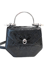 Wyld Blue Metallic Paisley Plated Bag