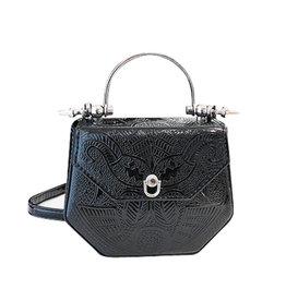 Wyld Blue Metallic Paisley Plated Bag