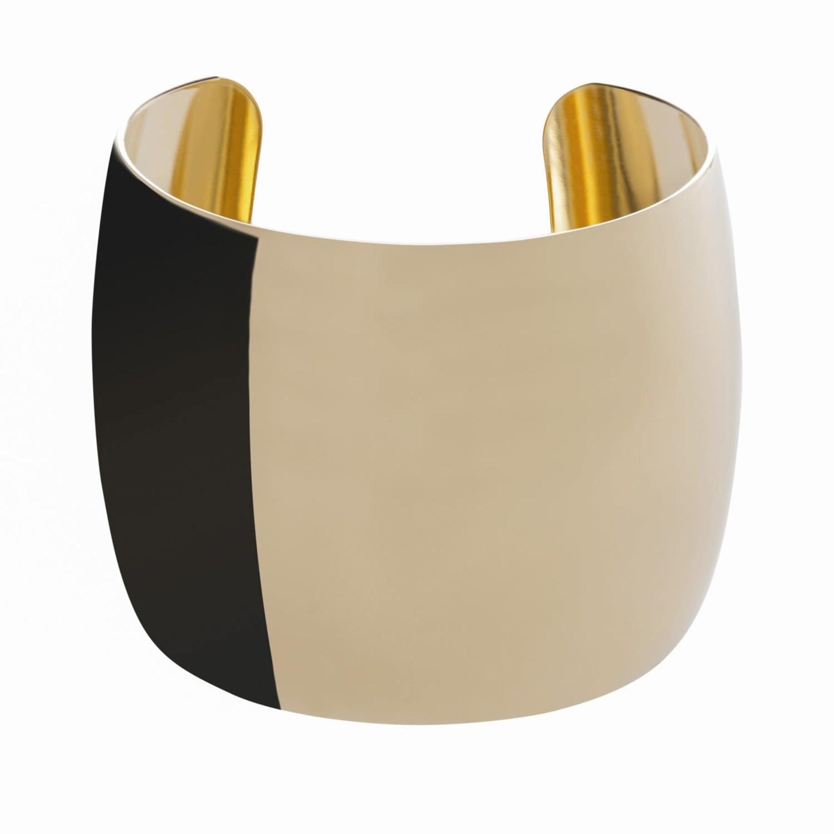 """Eklexic 2"""" XL Domed Cuff Gold"""