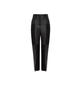 Aje Motocyclette Leather Patch Trouser Onyx