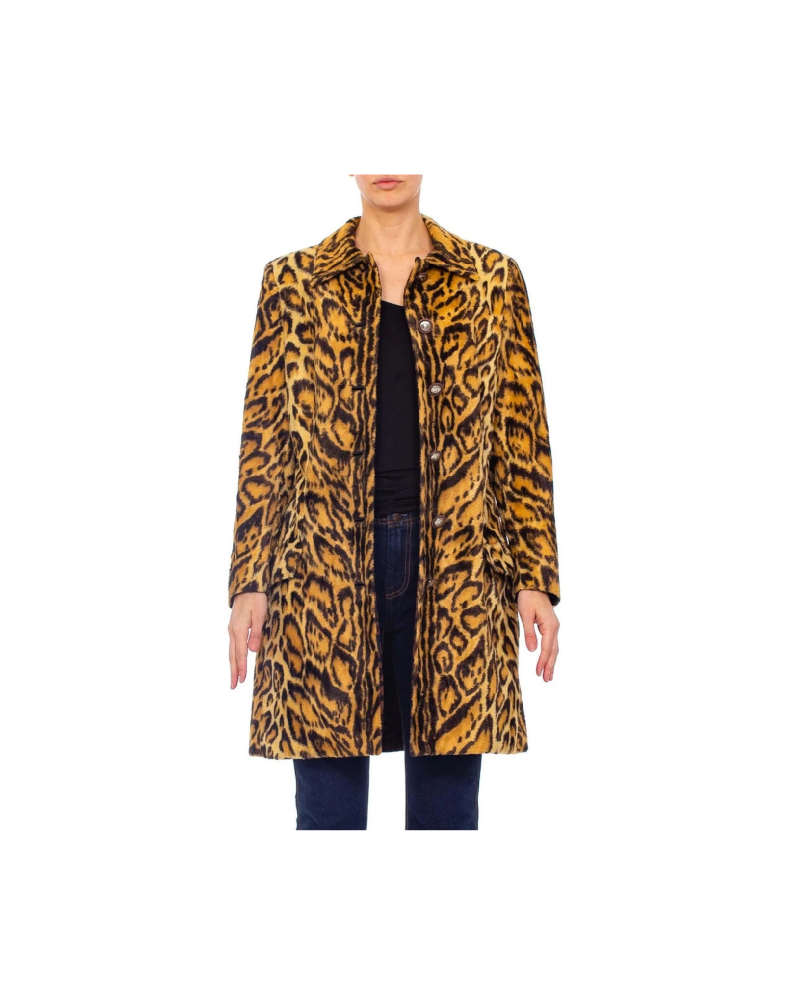 Wyld Blue Vintage Gianni Versace Leopard Coat (1990s)