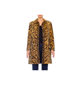Wyld Blue Vintage Gianni Versace Leopard Coat (1990s) - C8ON1049