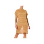 Wyld Blue Vintage Missoni Camel & Gold Knit Tunic Dress (2000s) - BHKCD3ON89